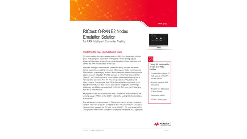 RICtest: O-RAN E2 Nodes Emulation Solution for RAN Intelligent Controller Testing