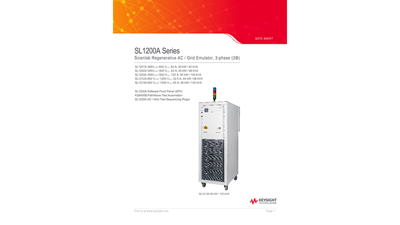 SL1200A Series Scienlab Regenerative AC Emulator, 3-Phase