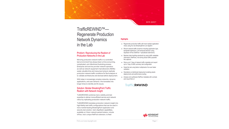 TrafficREWIND — Regenerate Production Network Dynamics in the Lab