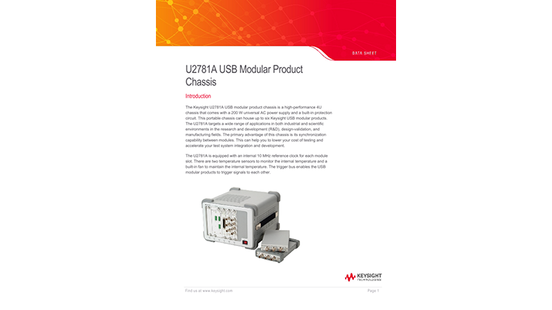 U2781A USB Modular Product Chassis