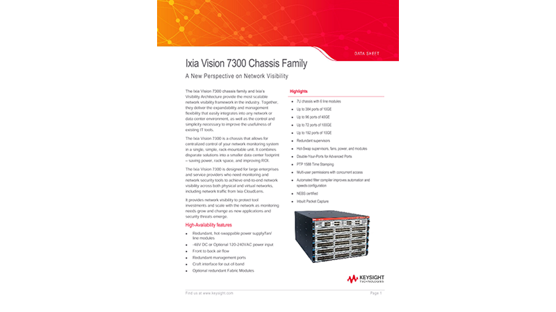 Ixia Vision 7300 Chassis Family