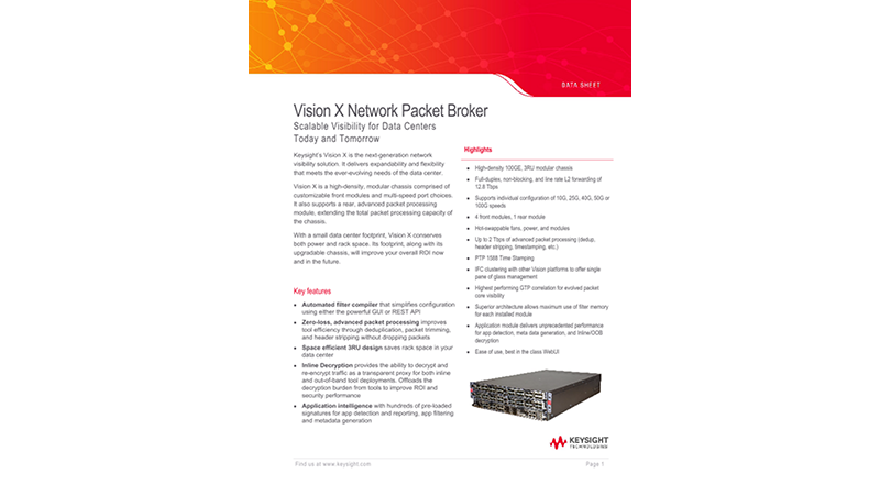 Vision X Network Packet Broker