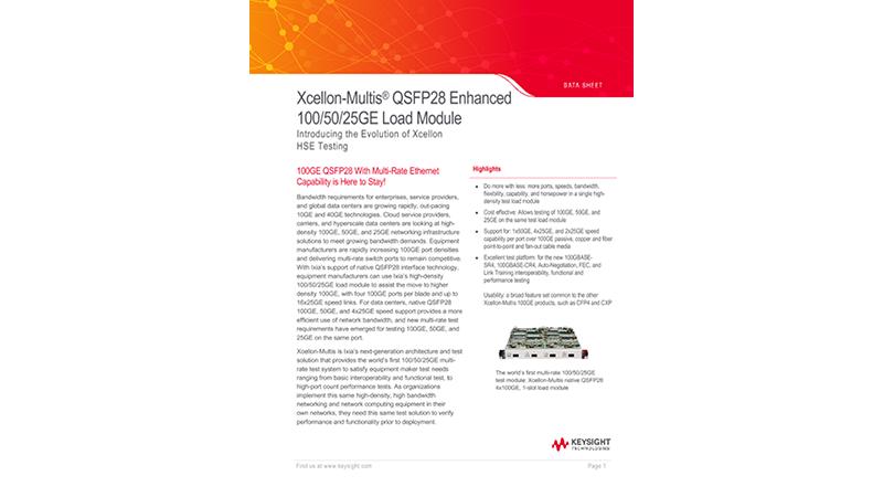 Xcellon-Multis® QSFP28 Enhanced 100/50/25GE Load Module