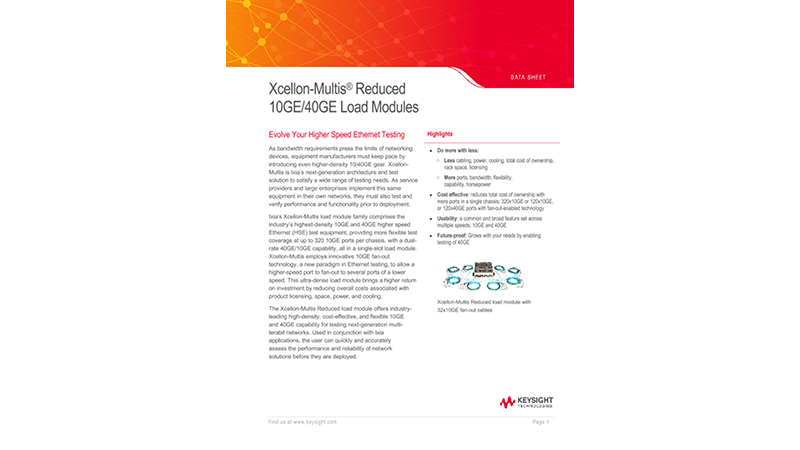 Xcellon-Multis® Reduced 10GE/40GE Load Modules