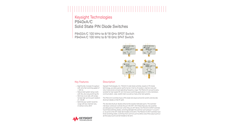 P940xA/C Solid State PIN Diode Switches
