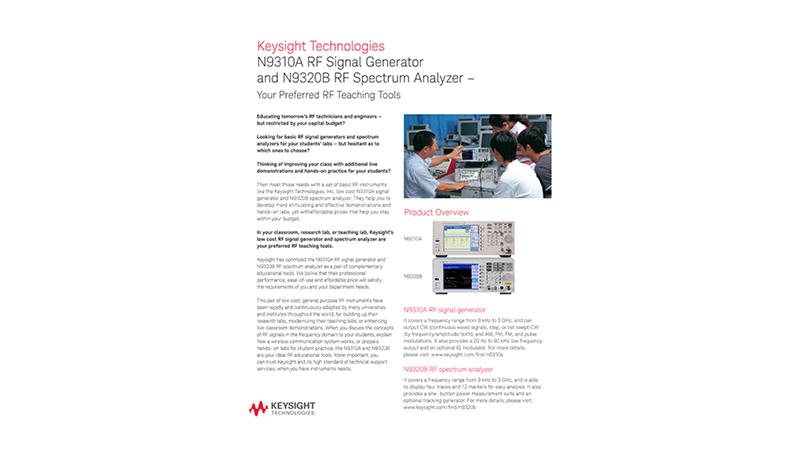 N9310A RF Signal Generator and N9320B RF Spectrum Analyzer