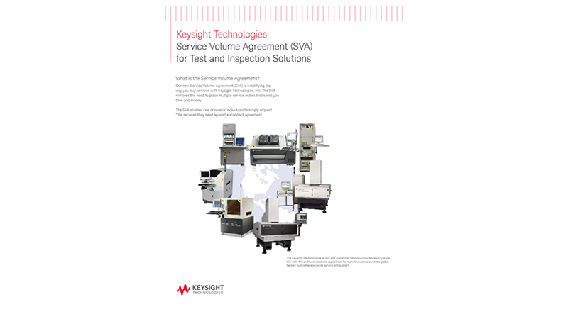 Service Volume Agreement (SVA) for Test and Inspection Solutions