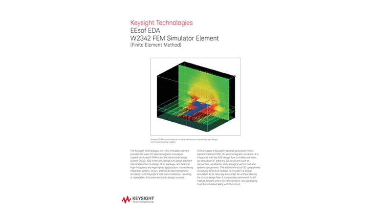 EEsof EDA W2342 FEM Simulator Element (Finite Element Method)