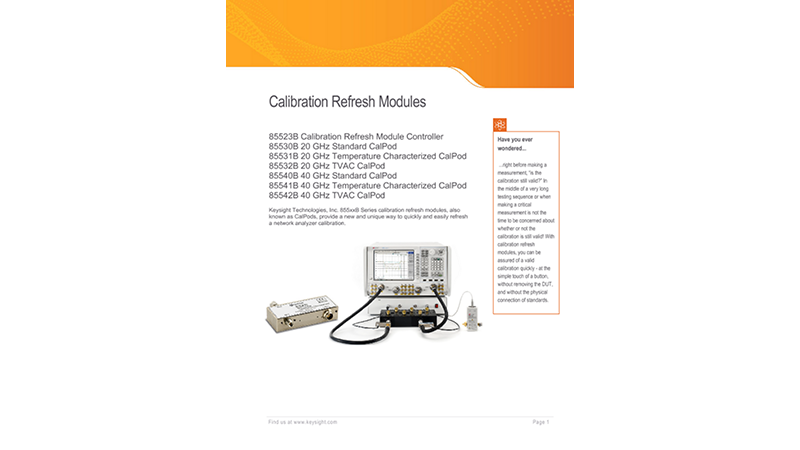Calibration Refresh Modules, 855xxB