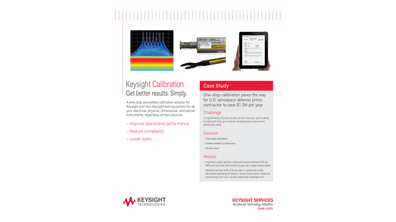 Keysight Calibration. Get better results