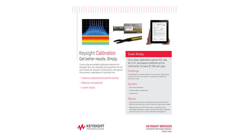 Keysight Calibration. Get better results