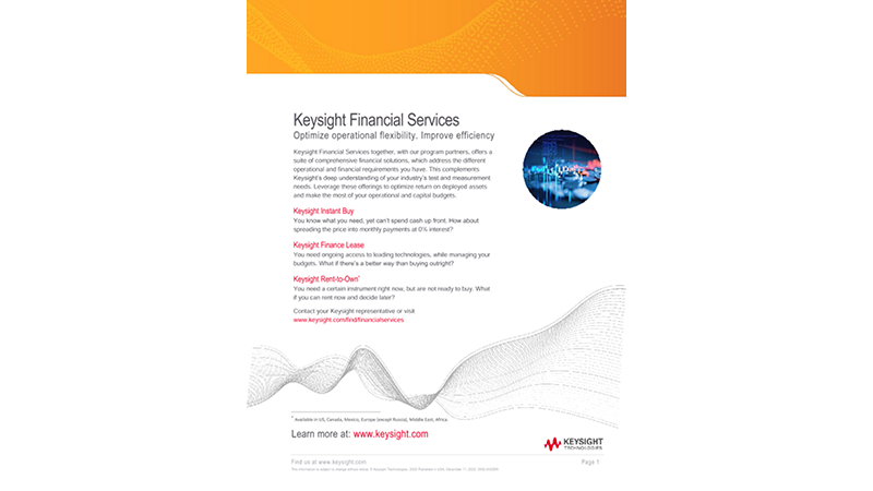 Keysight Financial Services