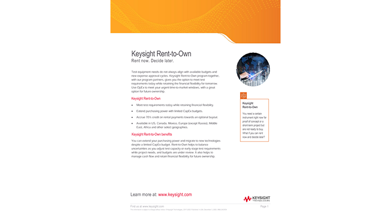 Keysight Rent-to-Own