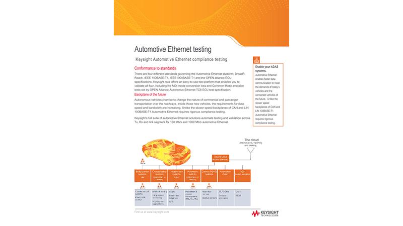 Automotive Ethernet testing