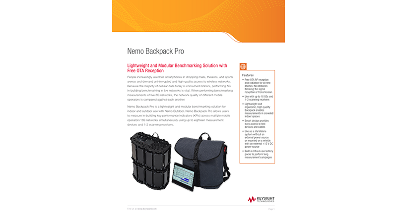 Nemo Backpack Pro Lightweight and Modular Benchmarking Solution with Free OTA Reception