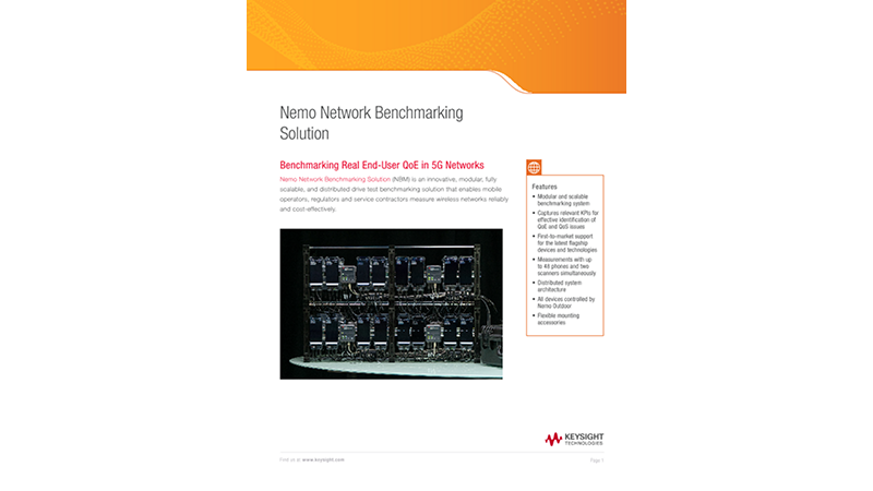 Nemo Network Benchmarking Solution