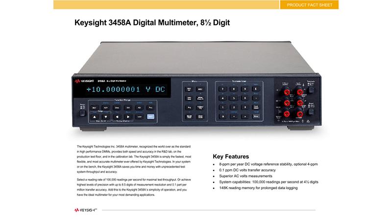 Keysight 3458A Digital Multimeter, 8 1/2 Digit