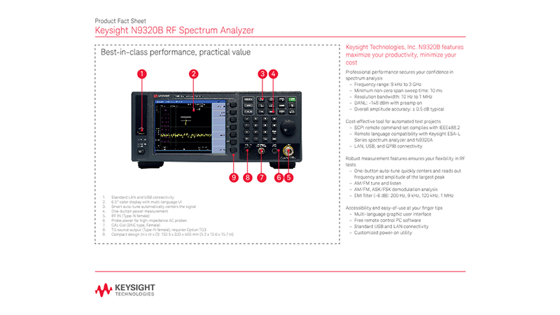 N9320B RF Spectrum Analyzer