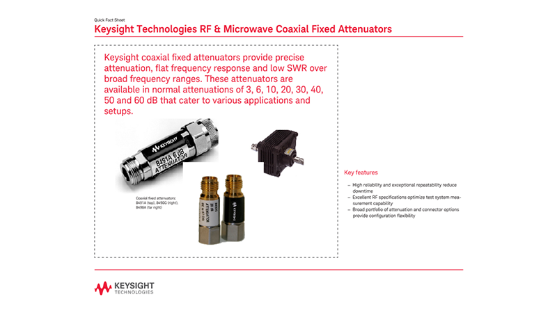 RF & Microwave Coaxial Fixed Attenuators