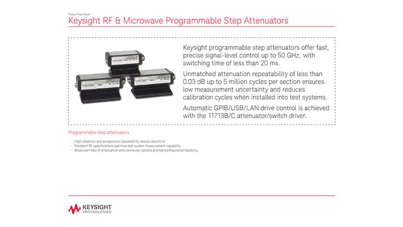 RF & Microwave Programmable Step Attenuators