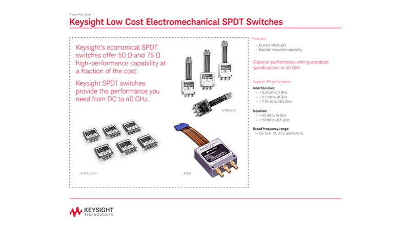 Low Cost Electromechanical SPDT Switches