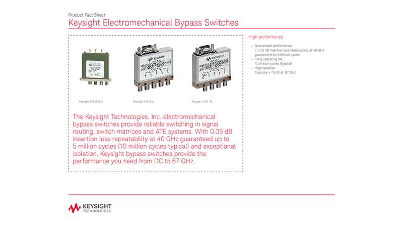 Electromechanical Bypass Switches