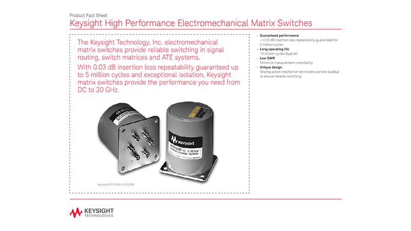 High Performance Electromechanical Matrix Switches