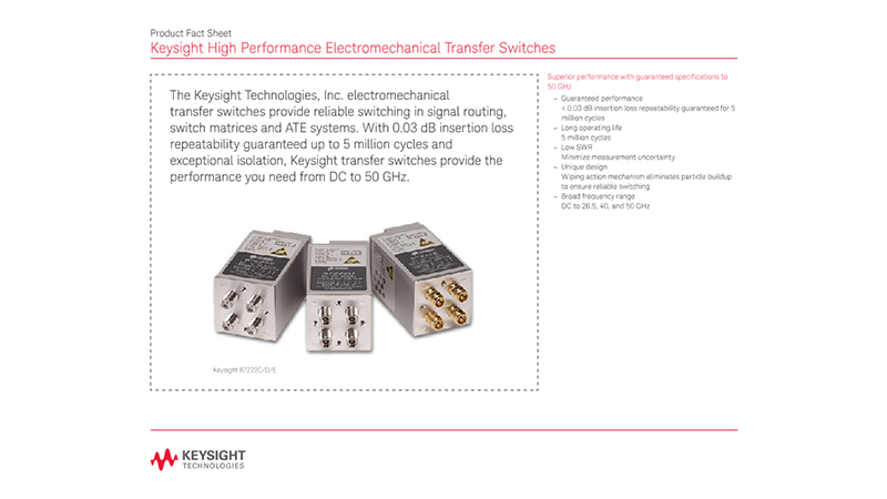 High Performance Electromechanical Transfer Switches