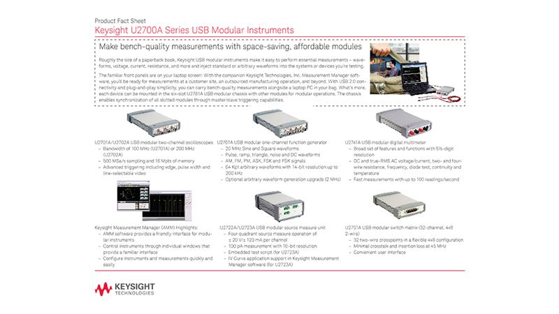 U2700A Series USB Modular Instruments