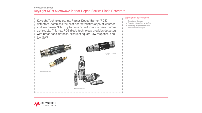 RF & Microwave Planar Doped Barrier Diode Detectors