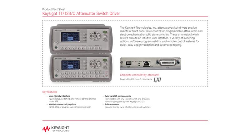 11713B/C Attenuator Switch Driver