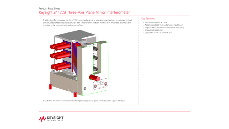 Z4422B Three-Axis Plane Mirror Interferometer – Product Fact Sheet