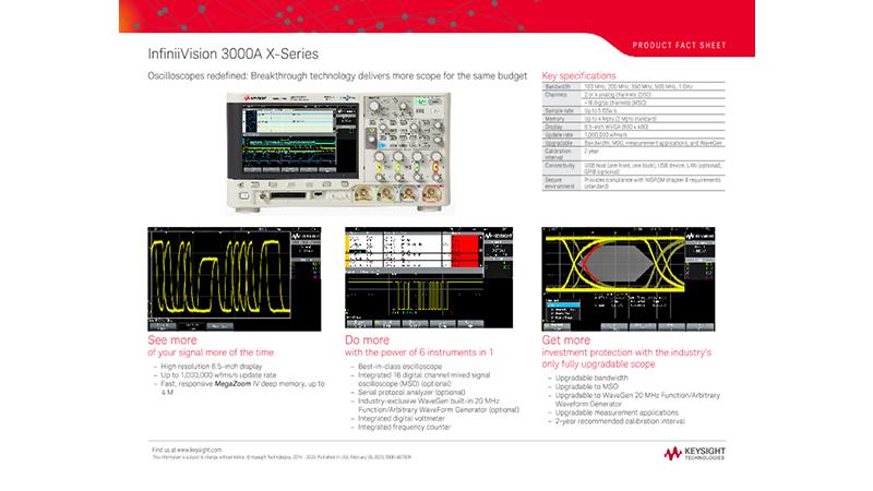 InfiniiVision 3000A X-Series