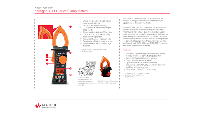 U1190 Series Clamp Meters