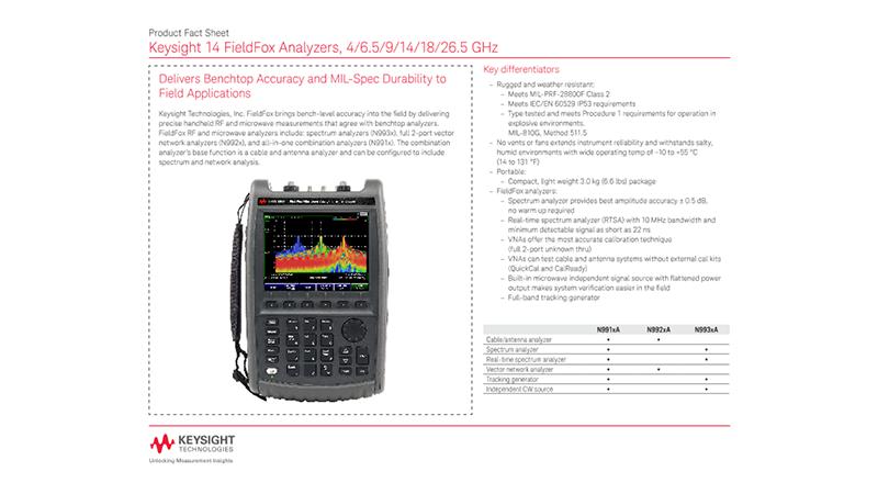 14 FieldFox Analyzers, 4/6.5/9/14/18/26.5 GHz