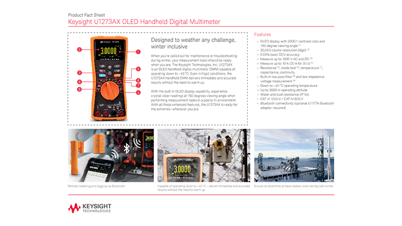 U1273AX OLED Handheld Digital Multimeter