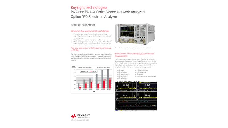 PNA and PNA-X Series Vector Network Analyzers Option 090 Spectrum Analyzer