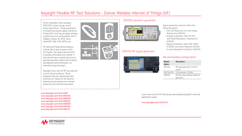 Flexible RF Test Solutions - Deliver Reliable Internet of Things (IoT)