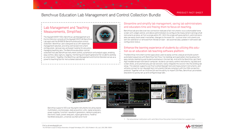 Benchvue Education Lab Management and Control Collection Bundle