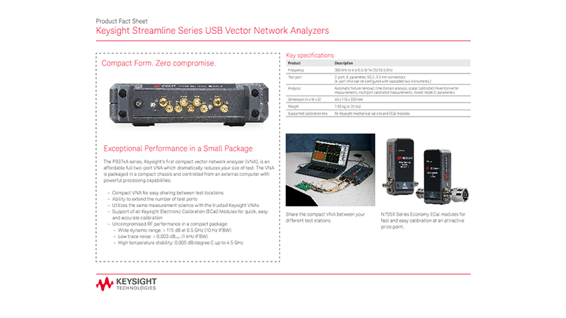 Streamline Series USB Vector Network Analyzers