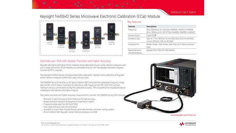 N469xD Series Microwave Electronic Calibration (ECal) Module