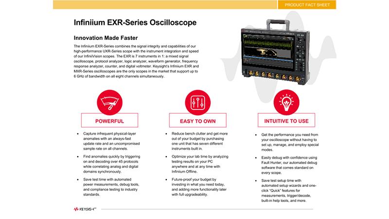 Infiniium EXR-Series Oscilloscope