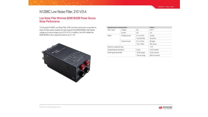 N1298C Low Noise Filter, 210 V/3 A