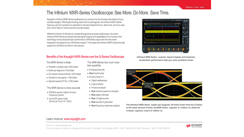The Infiniium MXR-Series Oscilloscope: See More. Do More. Save Time.