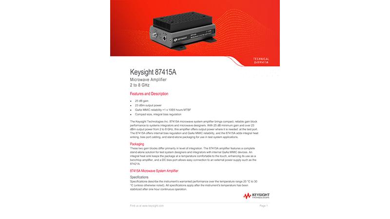 87415A Microwave Amplifier