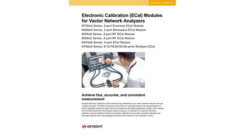 Electronic Calibration (ECal) Modules for Vector Network Analyzers