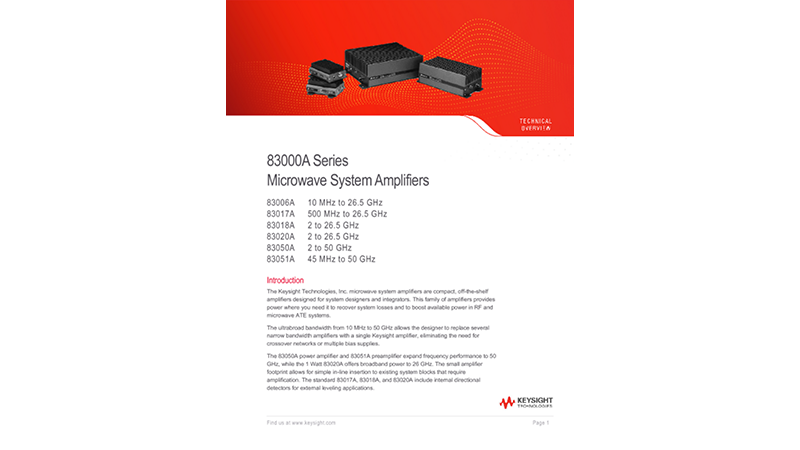 83000A Series Microwave System Amplifiers