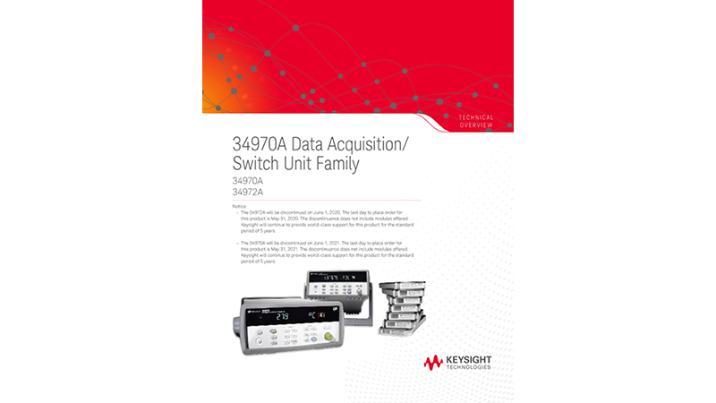 34970A Data Acquisition/Switch Unit Family