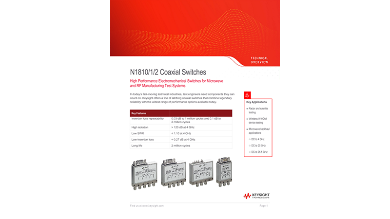 N1810/1/2 Coaxial Switches