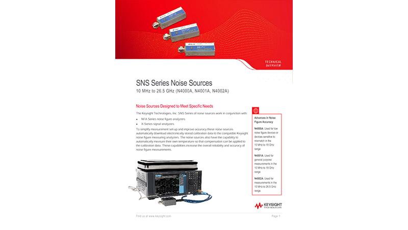 SNS Series Noise Sources